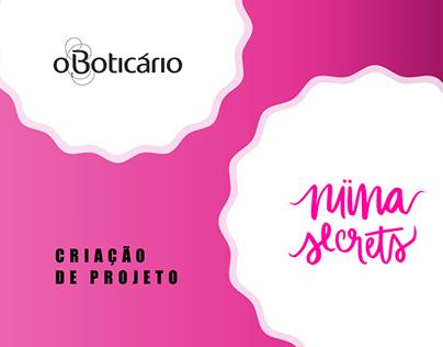 NIINA SECRETS E O BOTICÁRIO - MODELO DE PROJETO