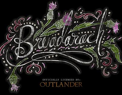Bruadarach Calligraphic Design