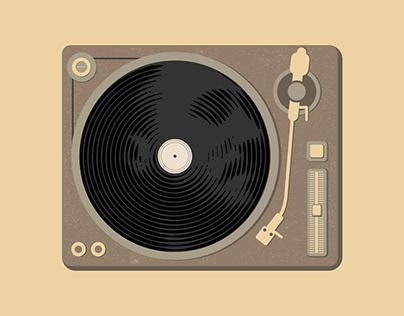 Record player portrait