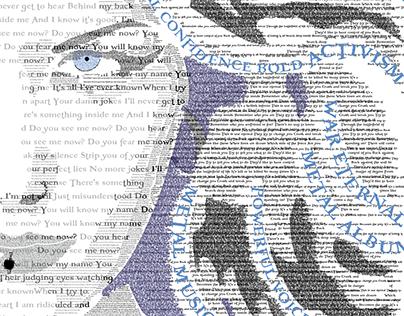 Student Work - Typographic Portrait