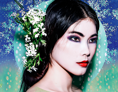 Beauty editorial for Freshly worn magazine, Canada.