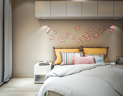 Girls Bed Room Interior Design