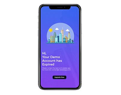 E-Estate App Demo Screen