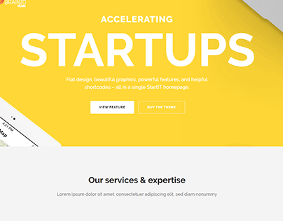 STARTUPS - Responsive Wordpress Website Design