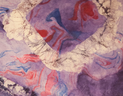 Abstracts on Melting Ice (Fabric Manipulation)