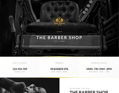 Hair cutting Landing page website
