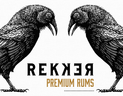 Rekker Rum Labels Illustrated by Steven Noble