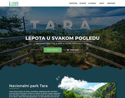 Nacional Park Tara Serbia - Landing page concept