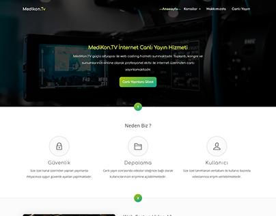 One Page Broadcast Company Web Design