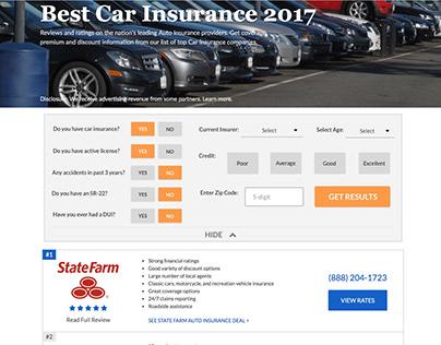 Car Insurance Vertical Design - ConsumersAdvocate.org