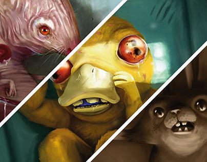 Pikachu, Psyduck & Rattata