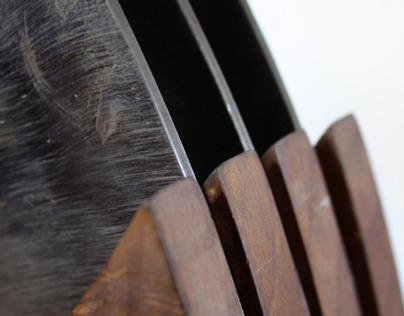 Metal penetrates wood