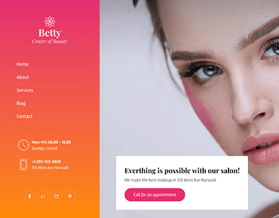 Betty - Beauty Salon and Makeup Template