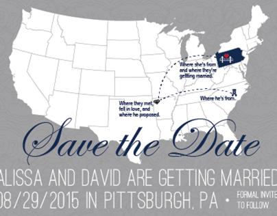 Save the Date Postcard Design