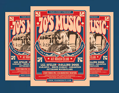 70's Music Event Flyer Template