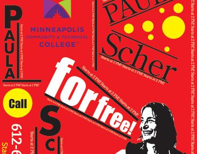 Paula Scher event poster advertisement design!
