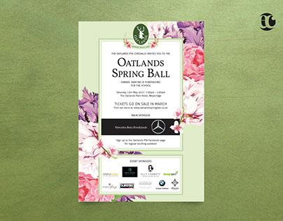 Oaklands Spring Ball Invite