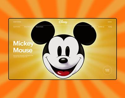 Disney — redesign website