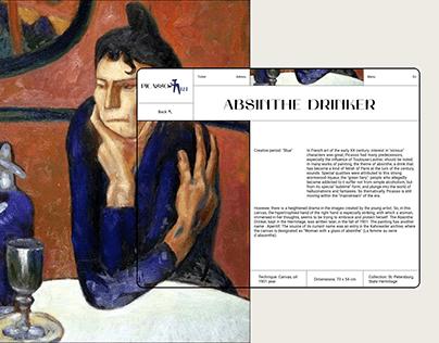 Picasso art — website redesign