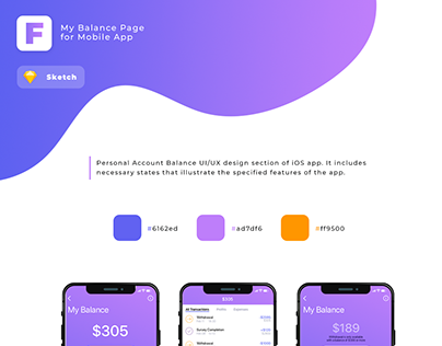 UI/UX design of Personal Balance Account