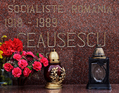 in Bucharest: Nicolae and Elena Ceaușescu's grave