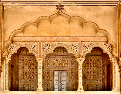Art At Agra Fort