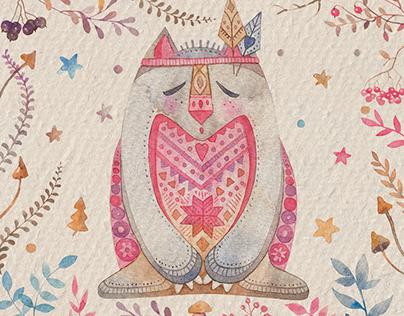 Winter Tonttu: Watercolor DIY Pack
