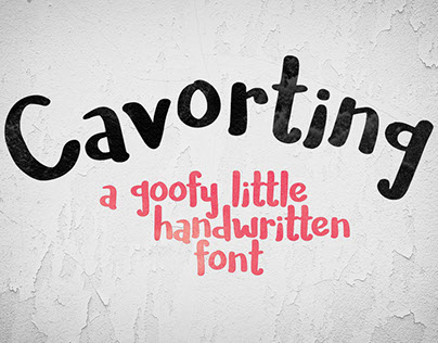 Cavorting - a goofy little handwriting font!