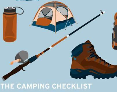 The Camping Checklist Poster