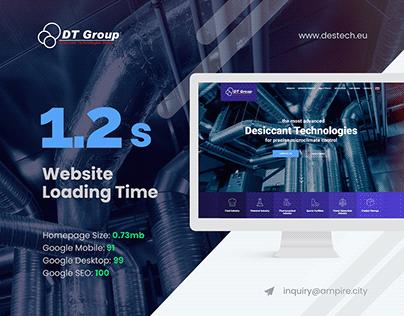 destech.eu - Full AMP Website with Unique Design