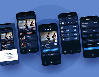 Wodz Fitness app - Dark and White Theme