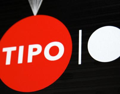 Tipo 10 exhibition visual identity