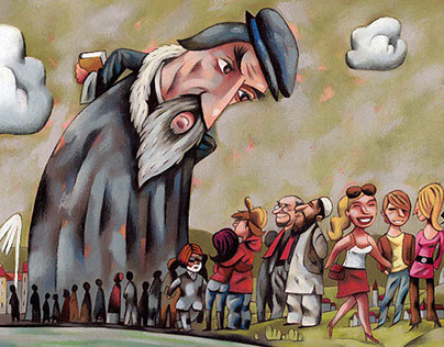 Illustrations parues dans le magazine suisse L'Hebdo.