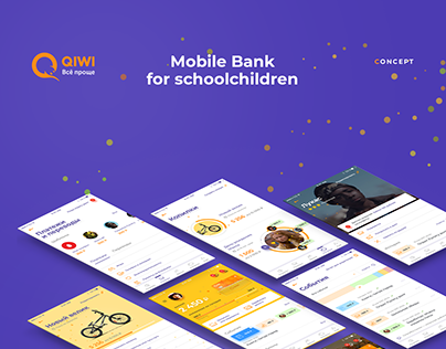Qiwi — Mobile Bank for schoolchildren. Concept