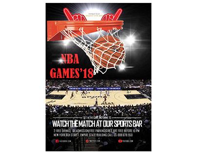 Basket game flyer