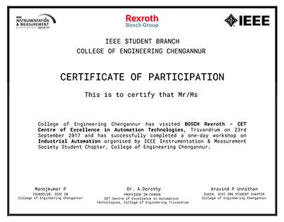 IEEE Event Certificate Design