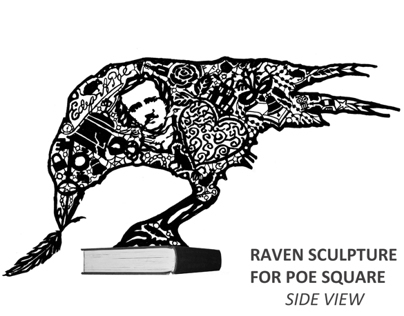 Proposal For A Sculpture on Poe Square, Boston, MA