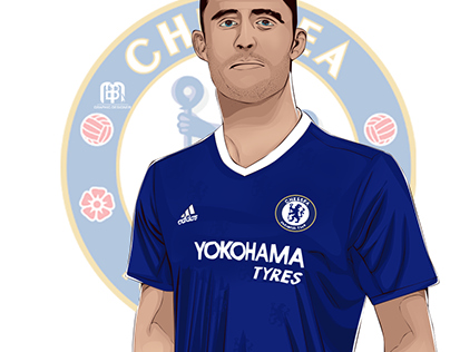gary cahill vector art