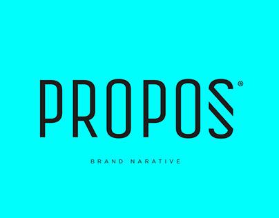Propos Brand Narative - Branding 360