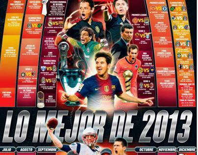 Calendar of sporting events for 2013