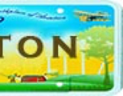 Custom toy license plates