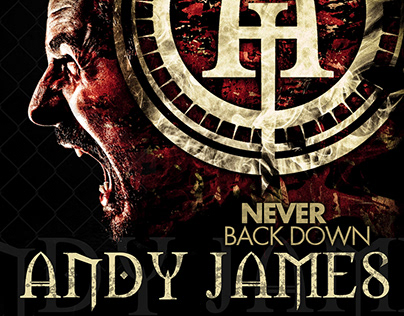 "ANDY JAMES ""Never Back Down"" single artwork"