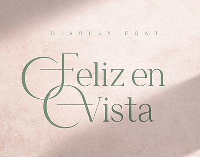 Feliz en Vista - Display Font