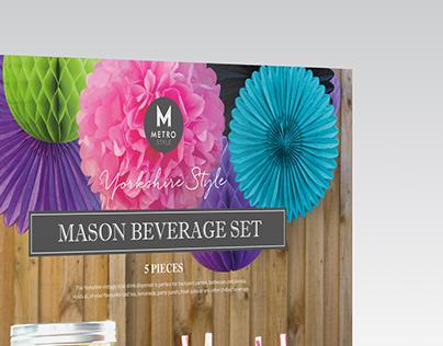 Yorkshire Style Mason Beverage Set