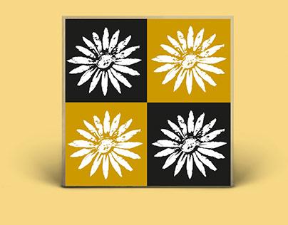 Hand drawn flower as design element