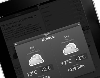 Projekt aplikacji iPad Onet News wstępne iteracje