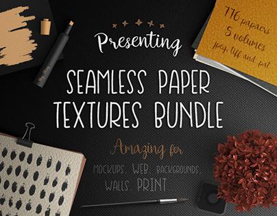 Seamless Paper Textures Bundle