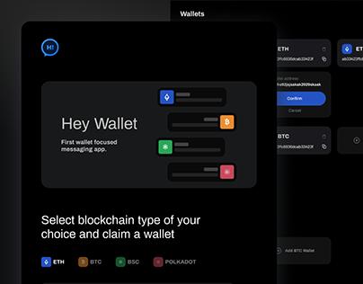 Hey Wallet Messaging Application
