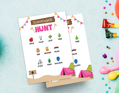 Camping Tent Scavenger Hunt Template