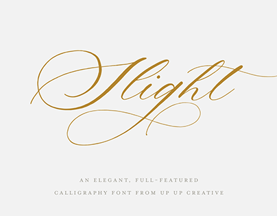 Slight, a Calligraphic Script Font from Up Up Creative